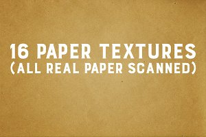 16 paper textures-Real paper scanned