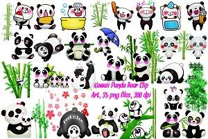 Panda Kawaii Clip Art