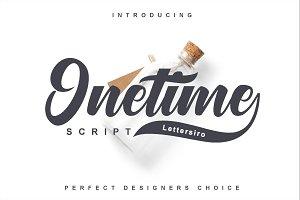 Onetime Typeface
