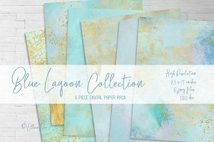 Blue Lagoon Digital Paper Pack