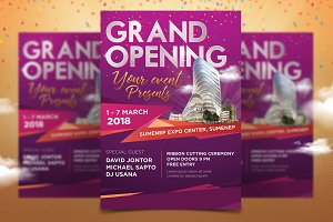 Grand Opening Multipurposes Poster