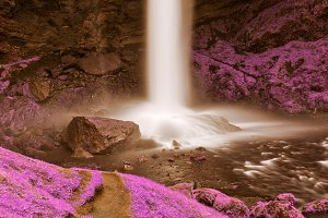 Purple Kvernufoss