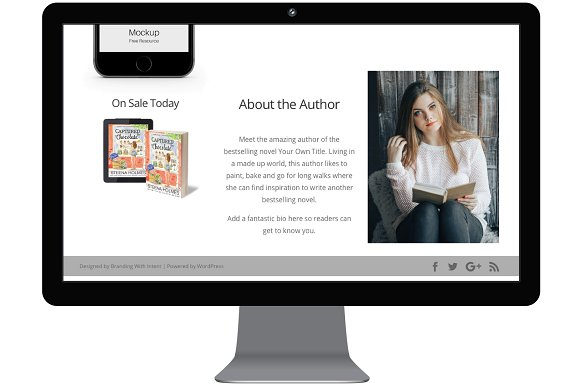 White Floral: Divi Site for Authors in WordPress Business Themes - product preview 2