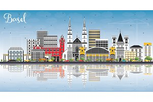 Basel Switzerland City Skyline