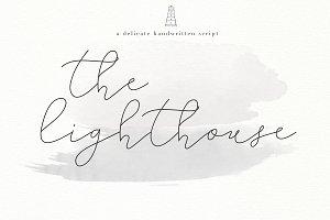 The Lighthouse -Delicate Script Font