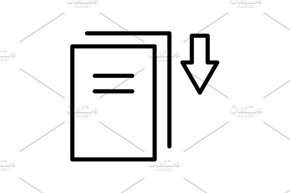 Download Icon Vector Illustration
