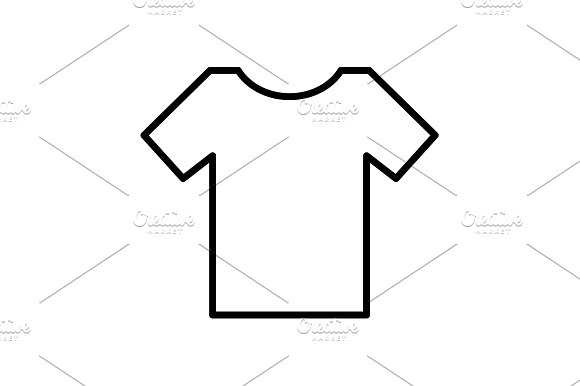 Vector Blank Tshirt Icon Symbol