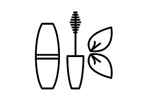 mascara brush icon. vector