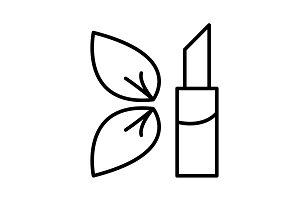 Simple icon lipstick. vector