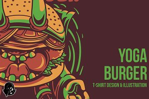 Yoga Burger Illustration