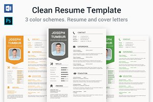 Clean Resume Template | CV