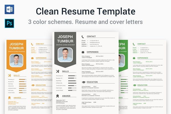 Clean Resume Template | CV