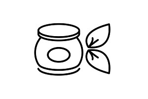 Vector cream icon. illustration