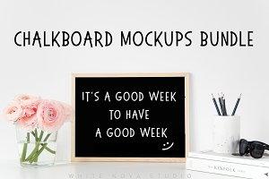 Chalkboard mockups bundle
