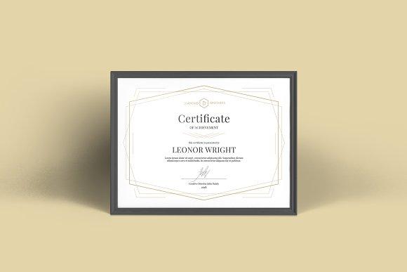 Geometric Certificate Template Stationery Templates Creative Market