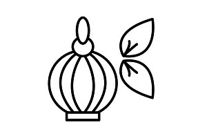 Perfume bottle vector icon black
