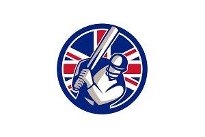 British Cricket Batsman Batting Unio