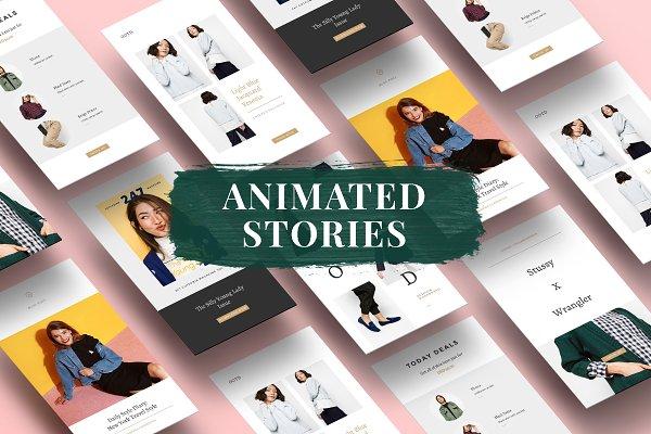 Animated Fashion Instagram Stories