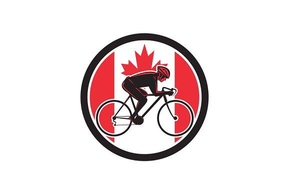 Canadian Cyclist Cycling Canada Flag