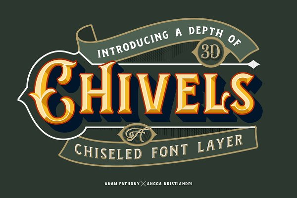 Chivels - Chiseled Vintage 3D Type