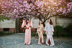 japanese kimono blossom sakura