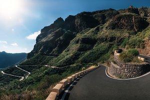 Mountain winding road, Tenerife