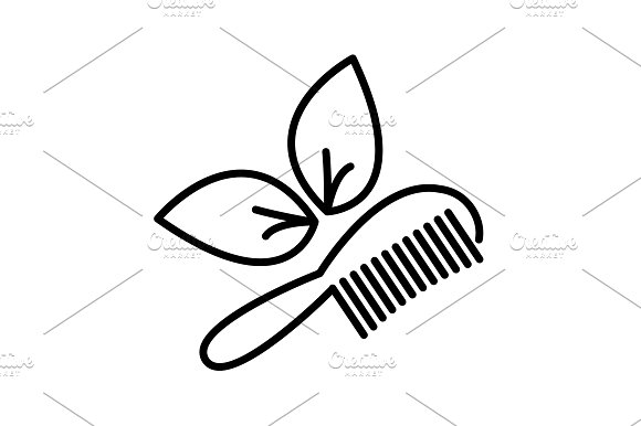 Hairbrush Vector Isolated Black