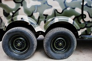 heels at military truck