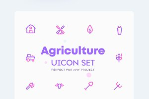 Farm, Agriculture Icons Set