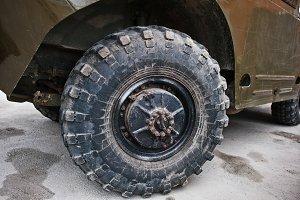 armored military car.