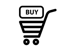 shopping cart (basket) icon. vector