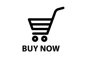 shopping cart (buy now) icon. vector