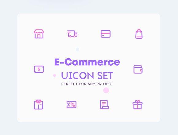 Ecommerce Online Shopping Icons Se