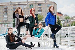 Five beautiful young girls