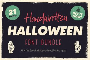 Handwritten Halloween Font Bundle!