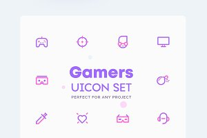 Gamer - Technology Geek Icons Set
