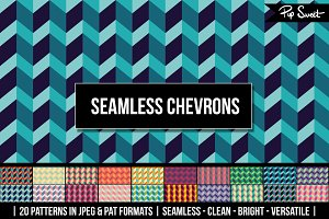 20 Seamless Chevrons Pattern Set
