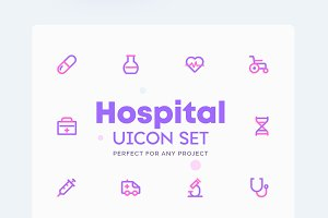 Hospital - Medical Icons Set