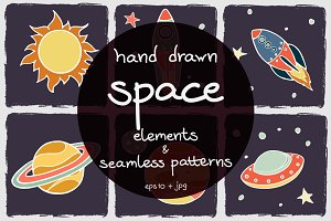 50% OFF! Cartoon Space Elements