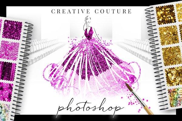 Glittery Styles Bundle Photoshop Ps
