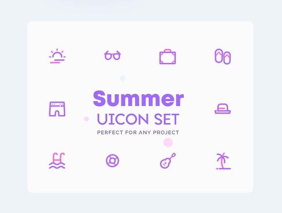 Summer - Vacation Icons Set