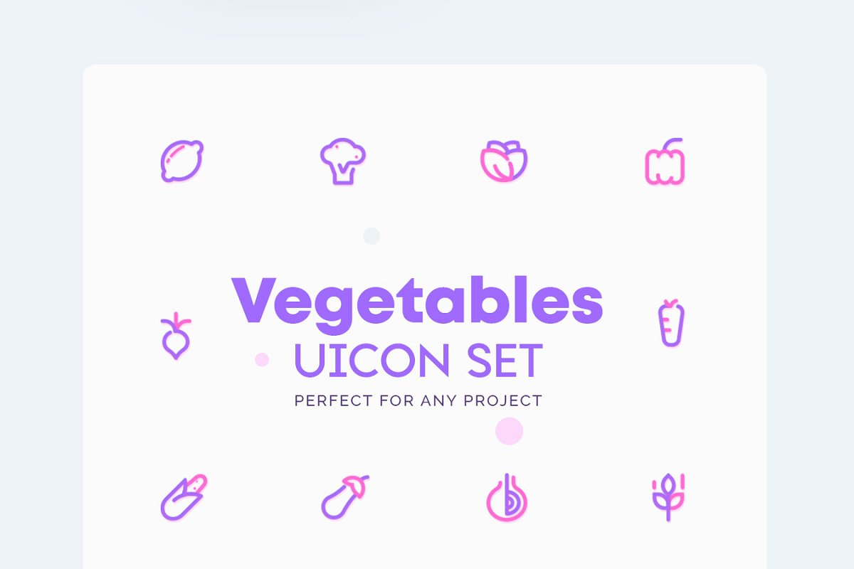Vegetable - Green Grocery Icons Set