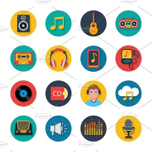 Mobile Tablet Music Navigation Icons