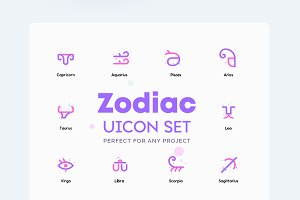 Zodiac - Horoscope Icons Set