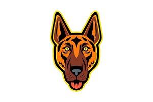 German Shepherd Dog Head Front Masco