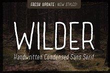 Wilder - A condensed sans serif