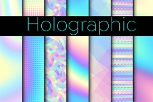 30 Holographic vector patterns