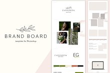 Brand Board Template: Evergreen by Tanita in Presentations