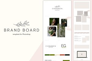 Brand Board Template: Evergreen