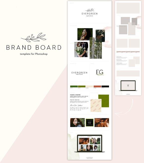 Brand Board Template Evergreen